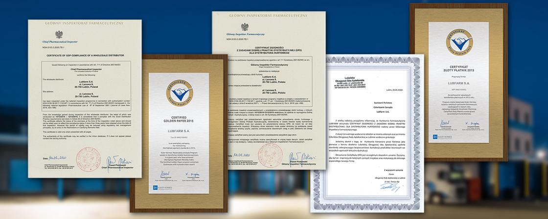 Certyfikat zgodności z zasadami DPD